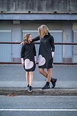 """Detské oblečenie - Teplákové šaty/tunika """"mama a dcéra"""" Neopen - 11232313_"""