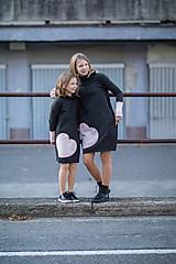 """Detské oblečenie - Teplákové šaty""""mama a dcéra"""" Neopen - 11232314_"""