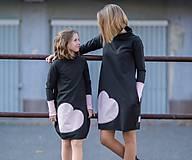 """Detské oblečenie - Teplákové šaty/tunika """"mama a dcéra"""" Neopen - 11232327_"""