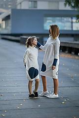 """Detské oblečenie - Teplákové šaty/tunika """"mama a dcéra"""" Glace ZĽAVA ks skladom!!! - 11232517_"""