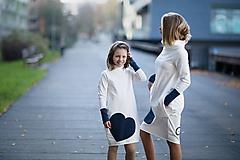 """Detské oblečenie - Teplákové šaty/tunika """"mama a dcéra"""" Glace ZĽAVA ks skladom!!! - 11232539_"""