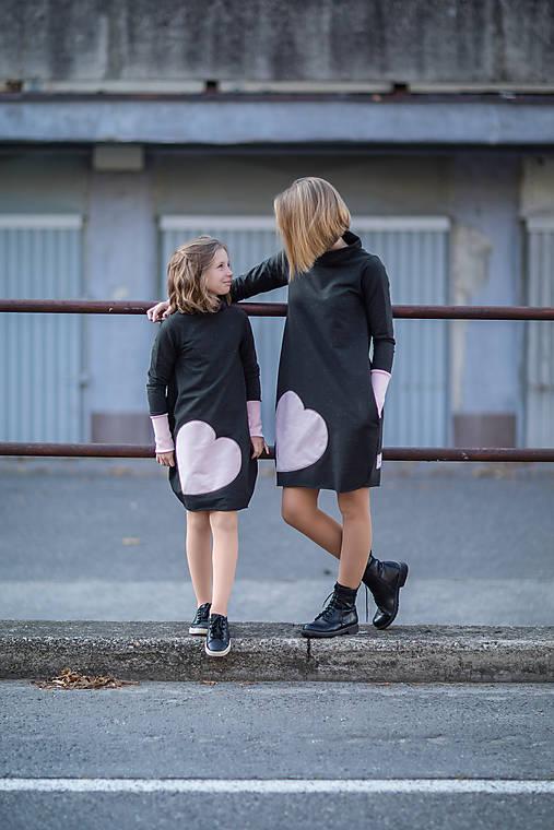 """Detské oblečenie - Teplákové šaty""""mama a dcéra"""" Neopen - 11232313_"""