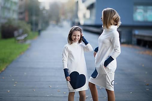 """Teplákové šaty/tunika """"mama a dcéra"""" Glace"""