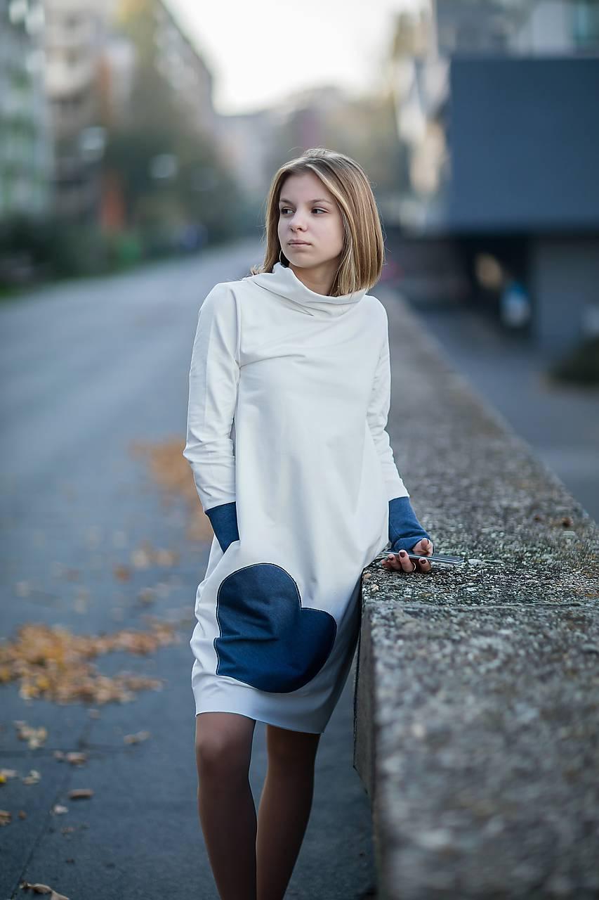Teplákové šaty/tunika