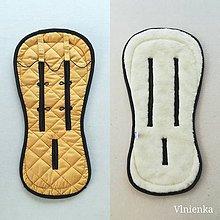 Textil - VLNIENKA Podložka do kočíka CYBEX Priam Lux proti poteniu 100 % merino top MUSTARD Horčicová - 11234371_