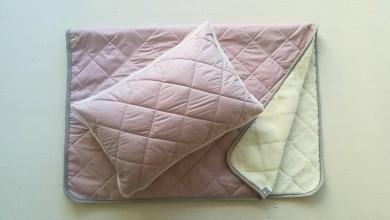 Textil - Vlnienka 100% Ovčie rúno Merino súprava do postieľky prikrývka 100x140 cm s Vankúšom 40 x 60 cm ELEGANT DUSTY PINK - 11234507_