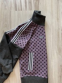 Detské oblečenie - Dievčenská mikina korunky športy štýl - 11233858_