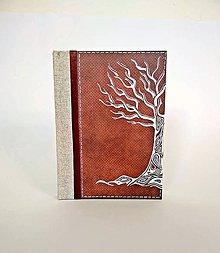 Papiernictvo - Diár 2020 * zápisník linajkový/čistý * autorská kresba stromu A5 - 11232742_