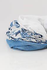 """Šatky - Dámsky elegantný kvetinový nákrčník """"BlueFloral"""" - 11231649_"""