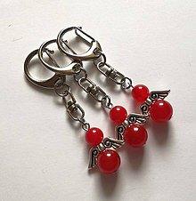 Kľúčenky - Minerálový anjelik - Jadeit červený - 11231865_