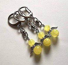 Kľúčenky - Minerálový anjelik - Jadeit žltý - 11231867_