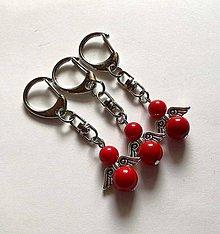 Kľúčenky - Minerálový anjelik - Jadeit červený II - 11231874_