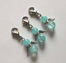 Kľúčenky - Minerálový minianjelik - Jadeit tyrkys - 11233217_