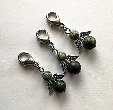 Kľúčenky - Minerálový minianjelik - Serpentinit - 11233246_