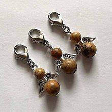 Kľúčenky - Minerálový minianjelik - Jaspis pieskový - 11233249_