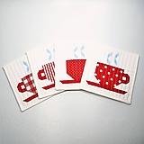 Úžitkový textil - Textilné podšálky - šálky - 11235006_