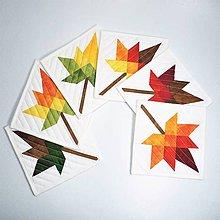 Úžitkový textil - Textilné podšálky - jesenné listy - 11235061_