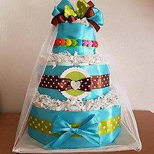 Detské doplnky - Plienková torta - 11232959_