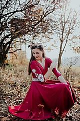 Šaty - fuchsiové úpletové šaty Poľana - 11234006_