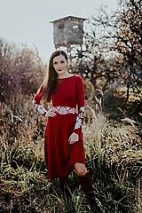 Šaty - bordové úpletové šaty Poľana - 11234223_
