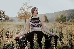 Šaty - čierne madeirové šaty Poľana - 11234248_