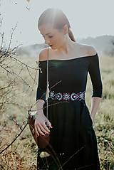 Šaty - čierne madeirové šaty Slavianka - 11234299_