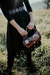 Šaty - čierne madeirové šaty Slavianka - 11234300_