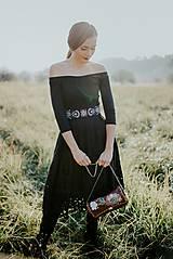 Šaty - čierne madeirové šaty Slavianka - 11234301_