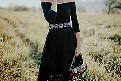 Šaty - čierne madeirové šaty Slavianka - 11234302_