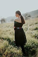 Šaty - čierne madeirové šaty Slavianka - 11234306_