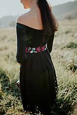 Šaty - čierne madeirové šaty Slavianka - 11234307_