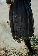 Šaty - čierne madeirové šaty Slavianka - 11234308_