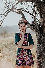 Šaty - zelené úpletové šaty Poľana - 11234333_