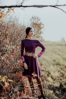 Šaty - Tmavomodré úpletové šaty Poľana - 11233987_