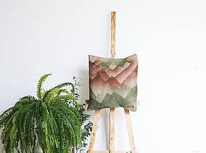 Úžitkový textil - Jutový dekoračný vankúš - Červené zore - 11232041_