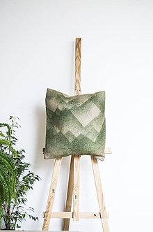Úžitkový textil - Jutový dekoračný vankúš - Štíty hôr - 11232114_