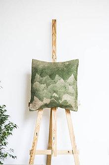 Úžitkový textil - Jutový dekoračný vankúš - Hviezdy nad horami - 11232283_