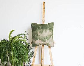 Úžitkový textil - Jutový dekoračný vankúš - Hory a hviezdy - 11232416_
