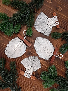 Dekorácie - Makramé vianočné drobnosti - 11233210_