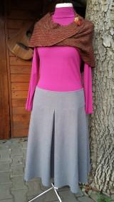 Sukne - Ľanová sukňa so sedielkom - 11234638_