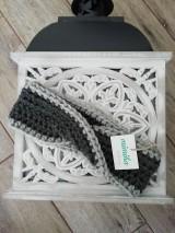 Ozdoby do vlasov - Šedo sivá čelenka - 11231533_