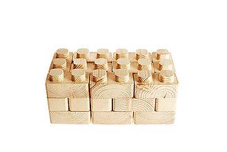 Hračky - Drevené lego Špudlo - 11235172_
