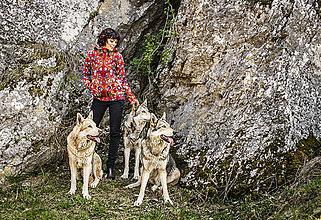 Mikiny - Mikina červená folklorní - 11233633_