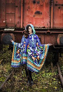 Iné oblečenie - Tmavě modrý pončokabát - 11233939_