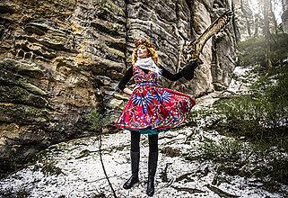 Šaty - PECKA šaty červené se sovami - 11234042_