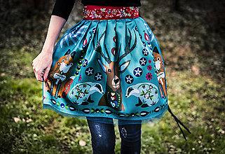 Sukne - PECKA tyrkysová lesní - 11234194_