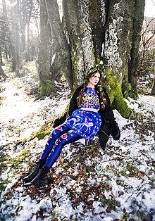 Sukne - PECKA modrá jelení - 11234232_