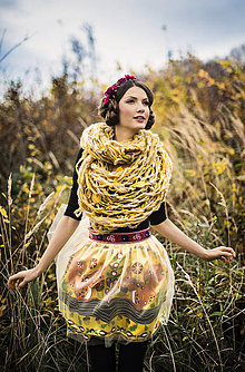 Sukne - PECKA žlutá veverková - 11234281_