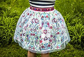 Sukne - PECKA bílá folklorní - 11234312_