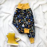 Detské oblečenie - Zimné softshellové nohavice tvary - 11231326_